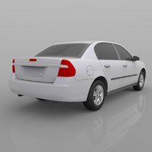 Chevrolet Malibu 2005 - 3ds and obj - Extended License image 7