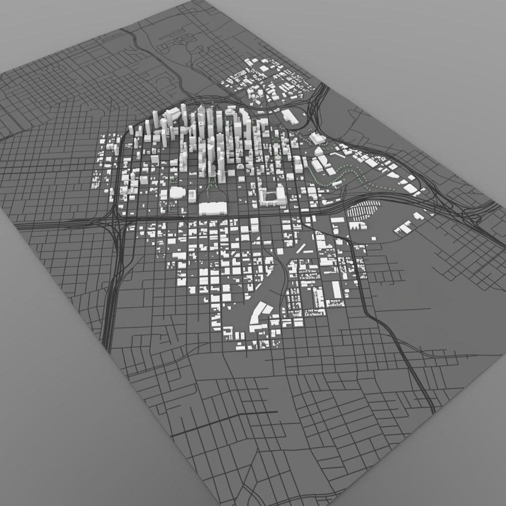 Houston Cityscape  - 3ds and obj - Extended License