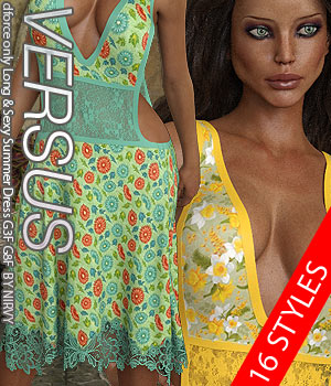 VERSUS - dforce only Long & Sexy Summer Dress G3F G8F 3D Figure Assets Anagord