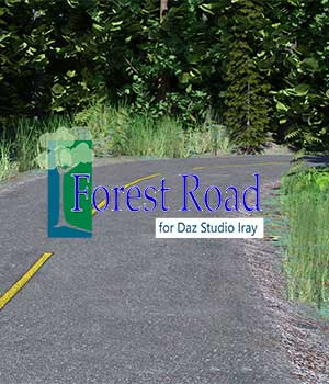 Forest Road for Daz Iray 3D Models kashyyyk