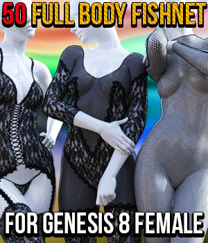 50 Full Body Fishnet for G8F 3D Figure Assets powerage