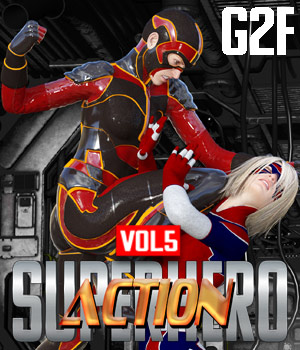 SuperHero Action for G2F Volume 5 3D Figure Assets GriffinFX