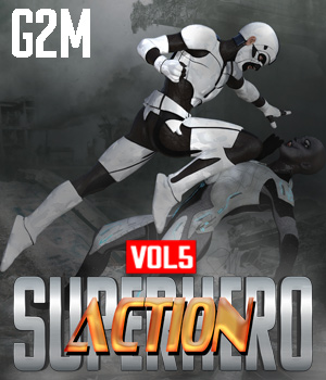 SuperHero Action for G2M Volume 5 3D Figure Assets GriffinFX