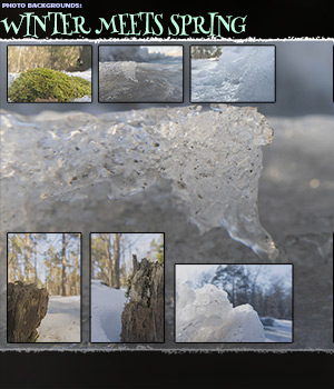 Photo Backgrounds: Winter meets Sring 2D Graphics ShaaraMuse3D