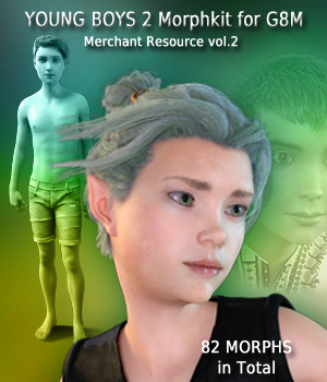 Young Boys 2 Morphkit for G8M - Merchant Resource 2 3D Figure Assets Merchant Resources Mar3D
