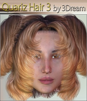 Quariz Hair 3 3D Figure Assets 3Dream