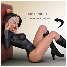 Z Flirtatious - Poses, Partials and Expressions for Genesis 3 and 8 Female image 2