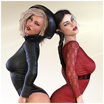 Z Flirtatious - Poses, Partials and Expressions for Genesis 3 and 8 Female image 4