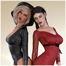 Z Flirtatious - Poses, Partials and Expressions for Genesis 3 and 8 Female image 5