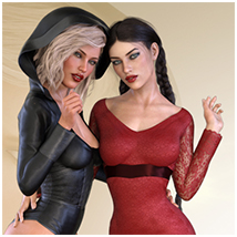 Z Flirtatious - Poses, Partials and Expressions for Genesis 3 and 8 Female image 6