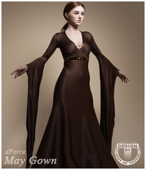 dForce May Gown for Genesis 8 Females 3D Figure Assets outoftouch