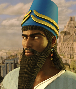 Assyrian Headdress for Genesis 8 Males 3D Figure Assets Meshitup