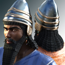 Assyrian Headdress for Genesis 8 Males image 1