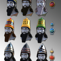 Assyrian Headdress for Genesis 8 Males image 2
