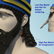 Assyrian Headdress for Genesis 8 Males image 4