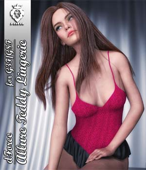 JMR dForce Allure Teddy Lingerie for G3F and G8F 3D Figure Assets JaMaRe