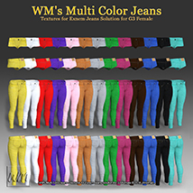 WM's Multi Color Jeans - Textures for Exnem Jeans Solution for G3 Female image 1