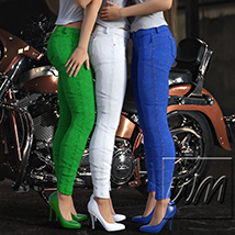 WM's Multi Color Jeans - Textures for Exnem Jeans Solution for G3 Female image 7