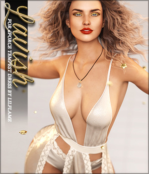 Lavish for dForce Tempest Dress G8F 3D Figure Assets Sveva