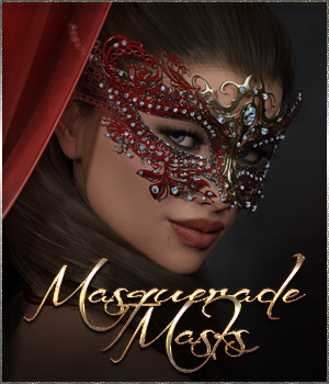 Masquerade Masks - Genesis 3-8 Females by ilona