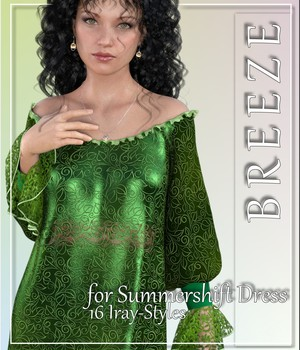Breeze- 16 Styles for Summershift-Dress 3D Figure Assets LUNA3D
