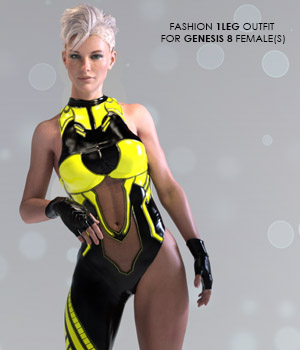 X-Fashion 1Leg Outfit for Genesis 8 Females 3D Figure Assets xtrart-3d