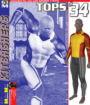 MMKBG3M Tops 034 3D Figure Assets MightyMite