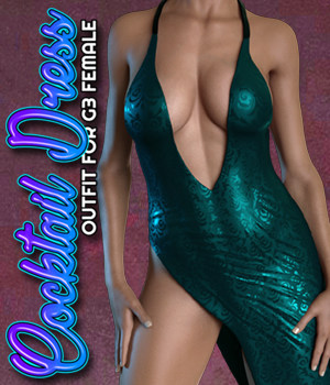 Exnem Cocktail Dress B for Genesis 3 Female 3D Figure Assets exnem