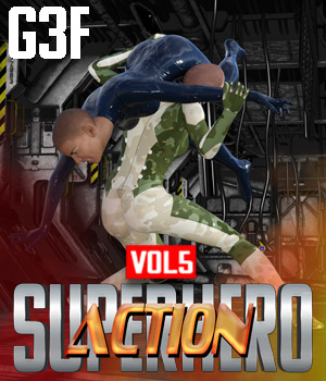 SuperHero Action for G3F Volume 5 3D Figure Assets GriffinFX