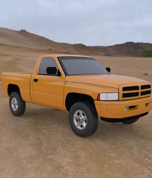 Dodge Ram Pickup 1997 - 3ds/ obj - Extended License