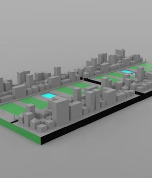 City Block - 3ds  obj - Extended License