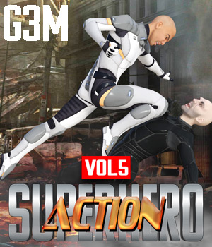 SuperHero Action for G3M Volume 5 3D Figure Assets GriffinFX