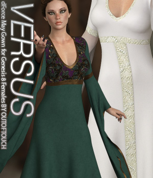 VERSUS - dForce May Gown for Genesis 8 Females 3D Figure Assets Anagord
