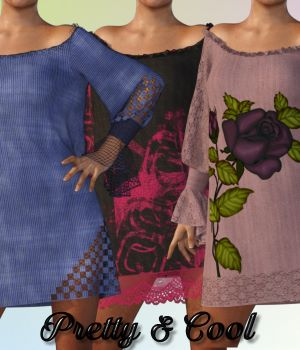 Pretty & Cool for dForce Summershift Dress by lully 3D Figure Assets chasmata