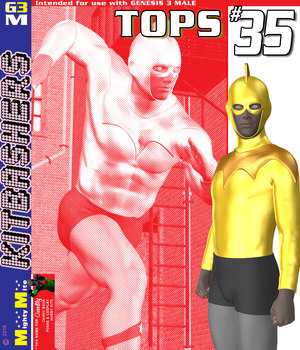 MMKBG3M Tops 035 3D Figure Assets MightyMite
