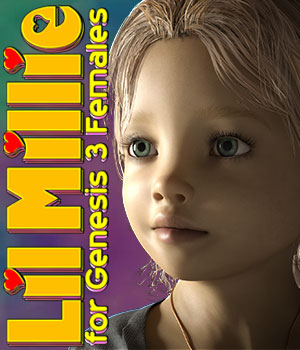 Lil Millie for G3F 3D Figure Assets 3DLoki