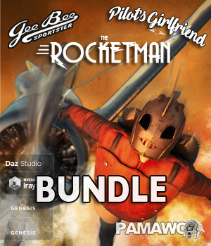 Rocket Bundle for DS 3D Figure Assets 3D Models pamawo
