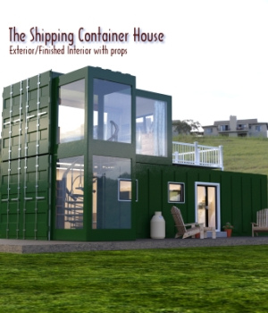 The Shipping Container House for DAZ Studio 3D Models EmotionalOutlet3D