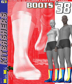 MMKBG3 Boots 038 3D Figure Assets MightyMite