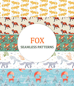 FOX - Seamless Patterns 2D Graphics Merchant Resources romawka