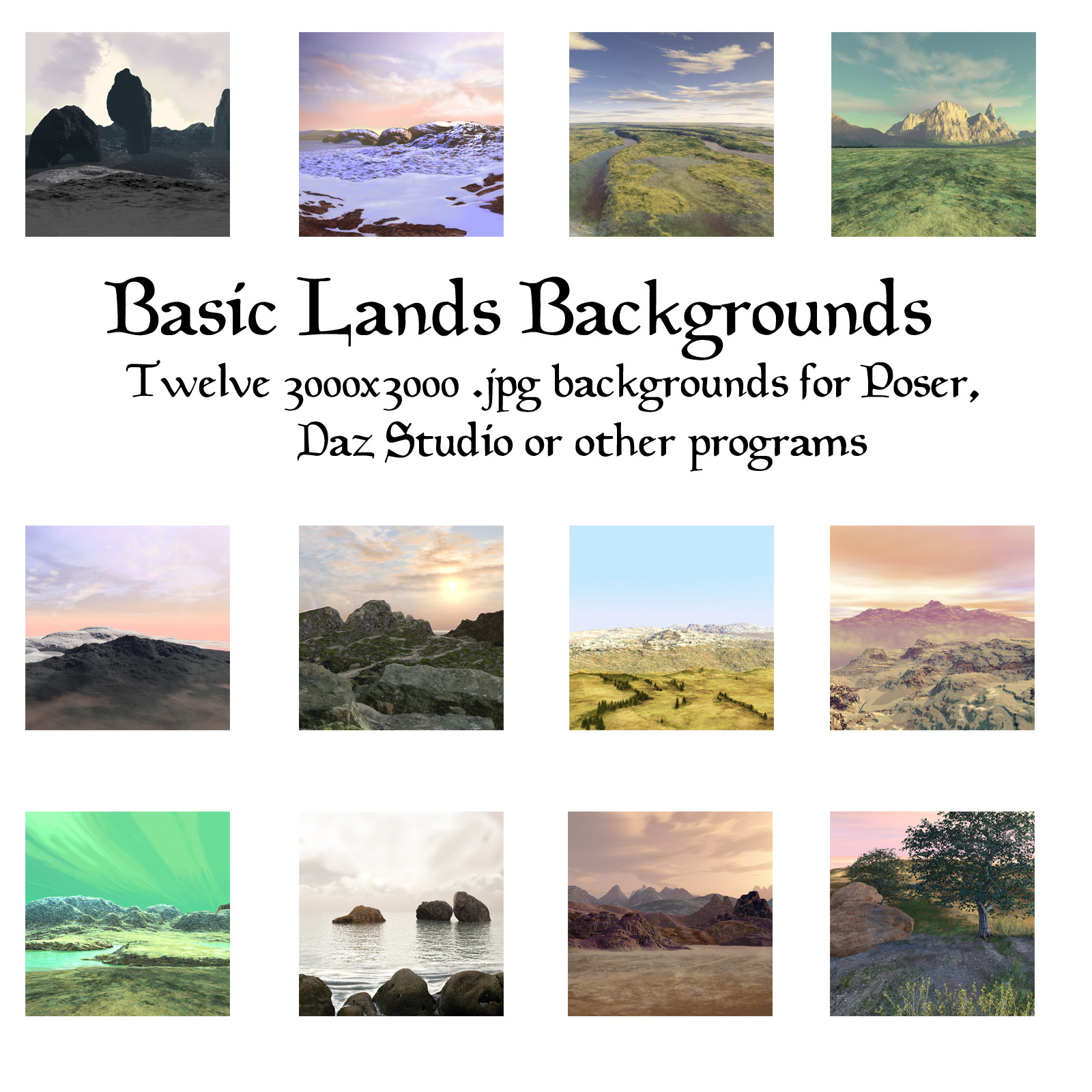 Basic Lands Backgrounds