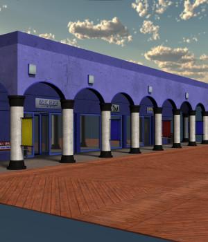 Boardwalk Building 01 for Poser 7 3D Models DexPac