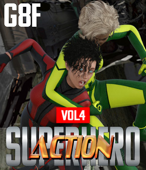 SuperHero Action for G8F Volume 4 3D Figure Assets GriffinFX