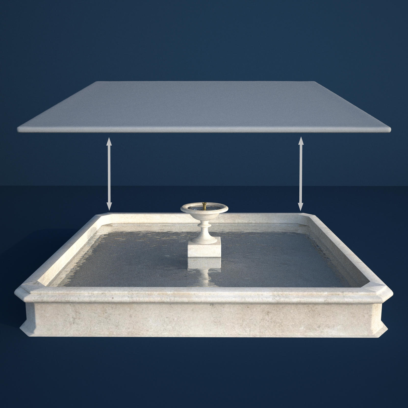 Fountain Maker Kit - Square Water Surfaces - Extended License
