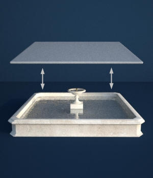Fountain Maker Kit - Square Water Surfaces - Extended License 3D Game Models : OBJ : FBX 3D Models Extended Licenses forester