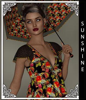 Sunshine for Handkerchief Dress 3D Figure Assets sandra_bonello