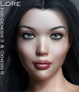 Lore for Genesis 3 and Genesis 8 Females 3D Figure Assets Rhiannon
