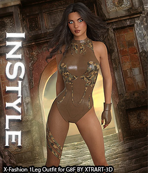 InStyle - X-Fashion 1Leg Outfit for Genesis 8 Females 3D Figure Assets -Valkyrie-