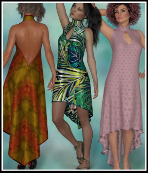 dForce - Slingback Dress for G8F 3D Figure Assets Lully