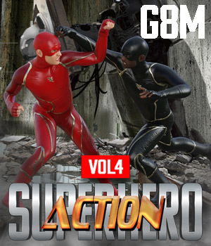 SuperHero Action for G8M Volume 4 3D Figure Assets GriffinFX